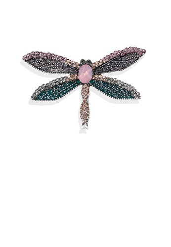 Glamorousky silver Fashion Bright Dragonfly Brooch with Cubic Zirconia 23627ACF26AB0BGS_1