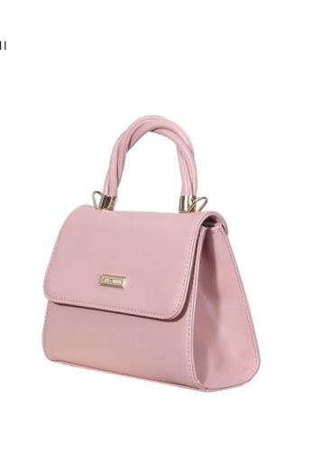Verchini pink Verchini Metallic Push-Lock Trapeze Bag B53CBAC5F21609GS_1