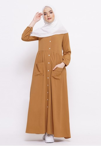 Tufine brown and bronze Nazwa Dress 7C328AA1DB1BD8GS_1