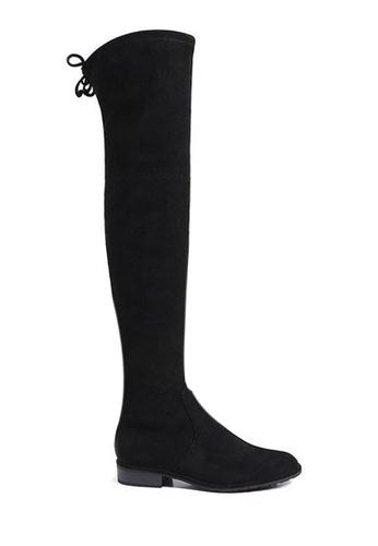 Twenty Eight Shoes 黑色 超修腳羊猄絨過膝長靴718-12 9CBA3SH37DE496GS_1