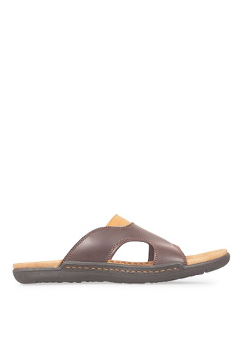 JAVA SEVEN brown JAVA SEVEN Shoes Stanley 1 Brown Men's Sandals & Flip Flops Leather JA154SH47ILGID_1
