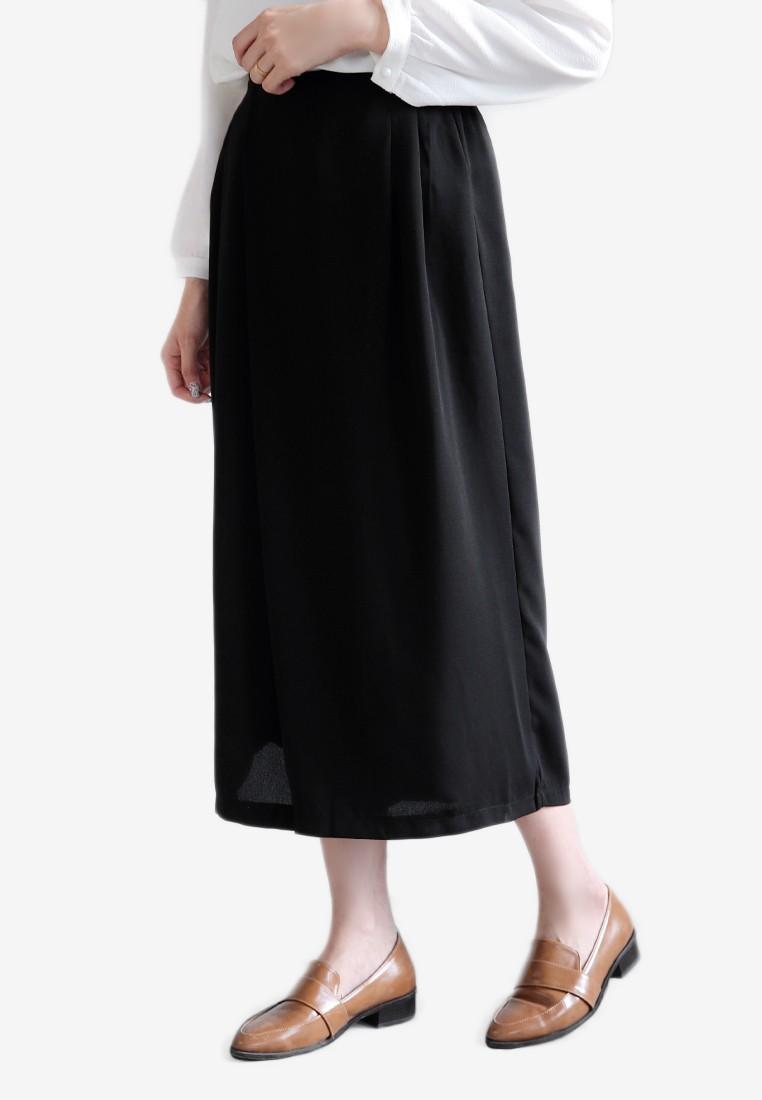 Overlap Culotte Pants