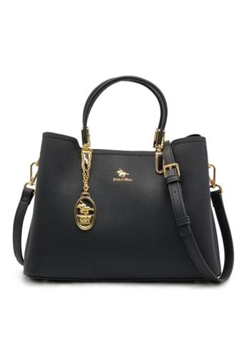 POLO HILL black POLO HILL Lune Top Handle Handbag B973CAC599ED7DGS_1