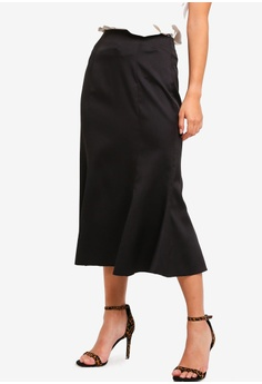 87a02d5bbc ZALORA black Fish Tail Maxi Skirt 951DEAA54AB320GS_1