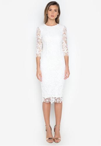 Shop Nobasic Long Sleeve Crochet Dress Online On Zalora Philippines