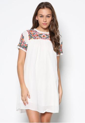 Petite 刺繡花卉連身裙, 服飾zalora 心得, 洋裝