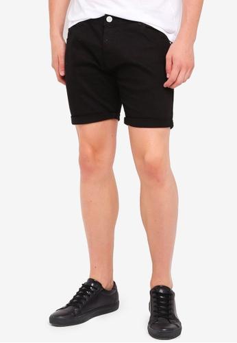 Brave Soul black Skinny Fit Denim Shorts 254E6AAF359C01GS_1
