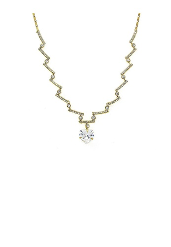 Glamorousky silver Glistening Heart Necklace with Silver Austrian crystal 87281AC408F530GS_1