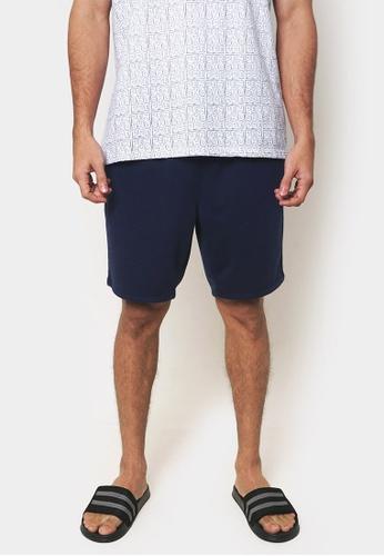 Penshoppe blue Basic Loungewear Shorts 55F7BAA0703DC4GS_1