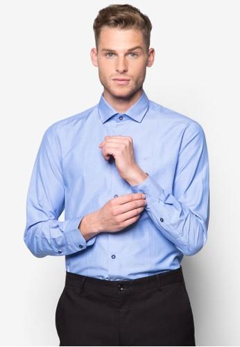 印花修身長袖襯衫, 服esprit 兼職飾, 襯衫