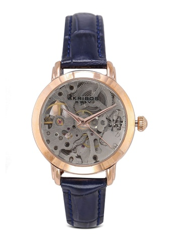 Akribos XXIV blue Automatic Skeletal Watch F5889AC2B9D007GS_1