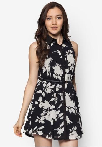 Something Borrowed black Printed Shirt Dress SO764AA21ENQSG_1