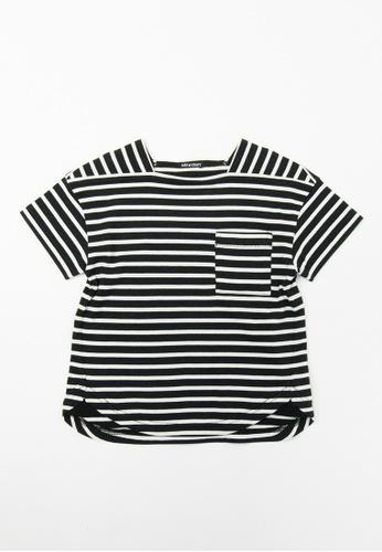 HÄP & CRAFT black Smile Cotton plain stitch T-shirt 6D286KA82E1C32GS_1