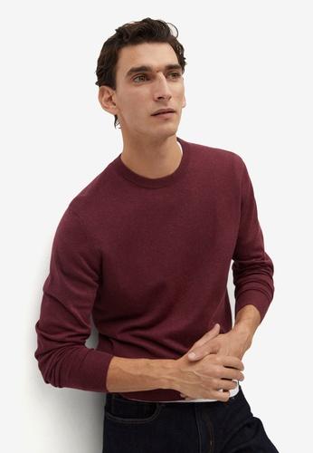 Mango Man red Cotton Cashmere-Blend Sweater 41168AA94F9690GS_1
