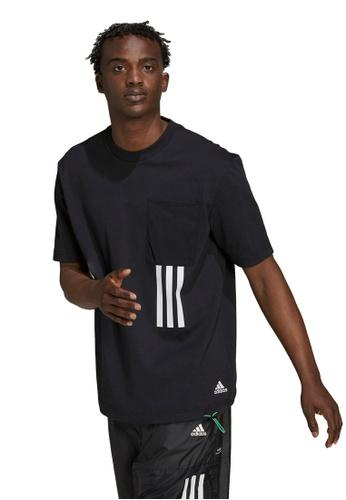 ADIDAS black sportswear x-city graphic tee 64D1CAA6751729GS_1