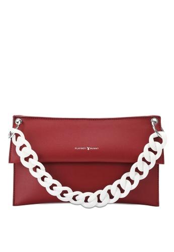 PLAYBOY BUNNY red Brand Shoulder Bag EC334AC798F7CAGS_1