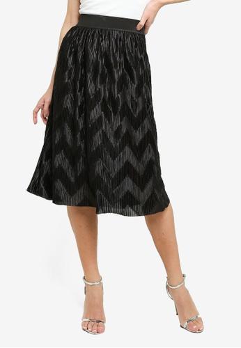 JACQUELINE DE YONG black Maci Pleated Skirt 3925AAAFE6642EGS_1