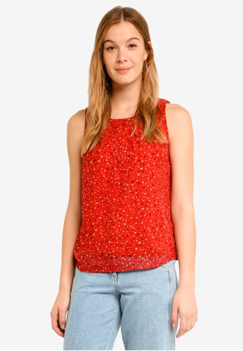 Vero Moda red Yvonne Chif Sleeveless Top F60FEAA6C36978GS_1