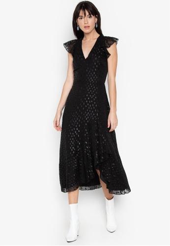 49261d15151f Shop WAREHOUSE Metallic Spot Midi Dress Online on ZALORA Philippines