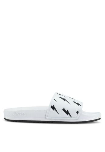 Slydes white Tazer Sandals E64C9SH5098EA3GS_1