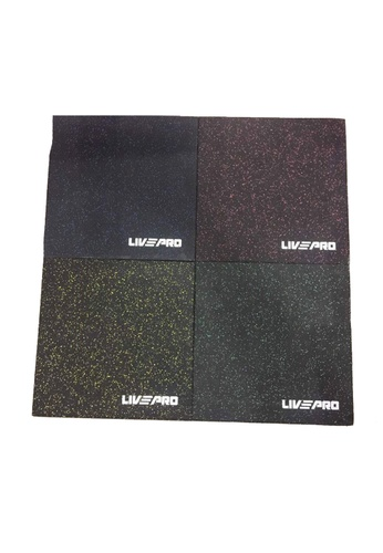 LIVE UP AND LIVE PRO. Commercial Gym Flooring Tiles - 20mm (Black) 561BFSE2414C22GS_1
