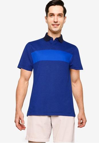 Banana Republic blue Perf Pique Tipped Placket Polo Shirt 90449AA2CD989FGS_1