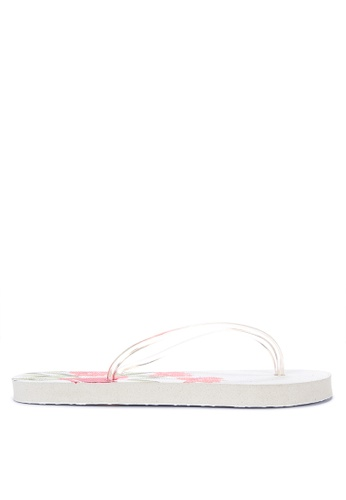 BENCH white Printed Rubber Slippers 63E7FSH679183DGS_1