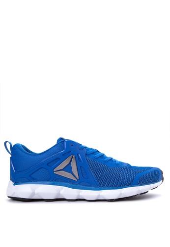 Reebok black and white and blue Hexaffect Run 5.0 MTM Running Shoes RE600SH62AZPPH_1