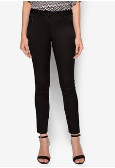 Black Zip Pocket Trousers