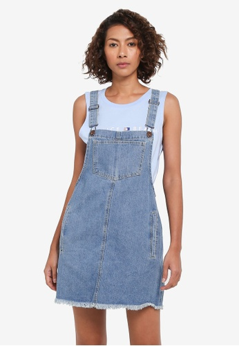 Cotton On blue Denim Pinafore Dress E3CCCAAE7488BEGS_1