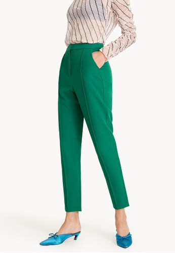 Pomelo green Center Seam Tapered Pants - Green FF2EDAA840100FGS_1