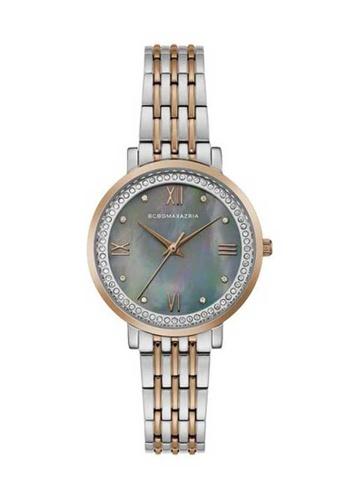 BCBG silver BCBGMAXAZRIA Silver and Gold Watch D1134AC65D3AF8GS_1