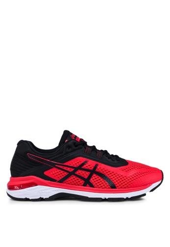 Asics red Gt-2000 6 Shoes AD008SHB3DBB5CGS_1