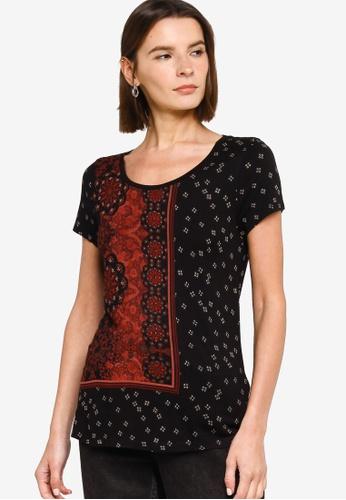 Desigual black Estambul T-Shirt 47ADBAA83EA526GS_1