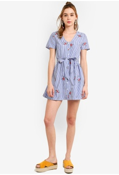 727597551a6 13% OFF Something Borrowed Embroidered Buttoned Down Dress HK$ 249.00 NOW  HK$ 216.90 Sizes XS S M L XL