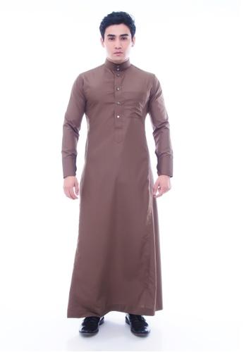 Amar Amran brown Jubah A Slim Fit AD191AA0C6AE55GS_1