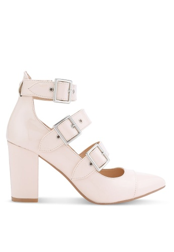 ZALORA beige Patent PU High Pumps with Buckle DAEC8SHF082079GS_1