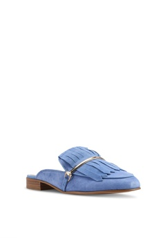 4a7063dc231 40% OFF River Island Suede Tassel Backless Loafers RM 335.00 NOW RM 200.90  Available in several sizes