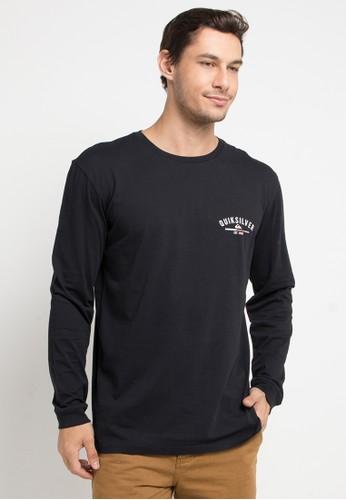 Quiksilver black Simple Colour Long Sleeve T-Shirt 96316AABFFB98DGS_1