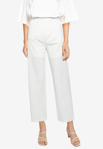 JEANASIS white Jacquard Lace Pants AB7CFAA985A795GS_1