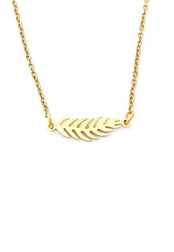 Trinkets for Keeps gold Feather Necklace 9BCB3AC3F1C6E6GS_1