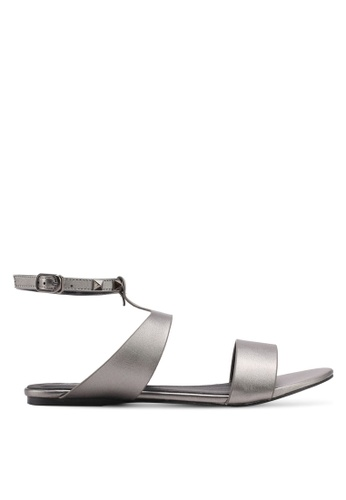 Something Borrowed silver Studded Sandals 976D8SH79825E1GS_1