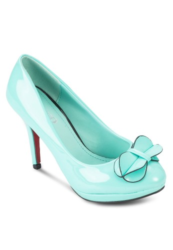 蝴蝶結漆皮高跟鞋, 女esprit 兼職鞋, 厚底高跟鞋