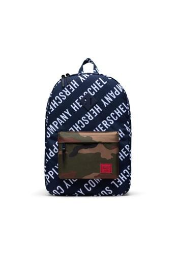Herschel multi Herschel Heritage Backpack Roll Call Peacoat/Woodland Camo - 21.5L D2E26ACADC6CDBGS_1