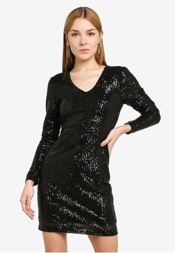 JACQUELINE DE YONG black Mimo Sequins Dress 0F692AA91B5BFEGS_1