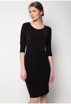 Black Sequin Half Moon Ity Dre Dress