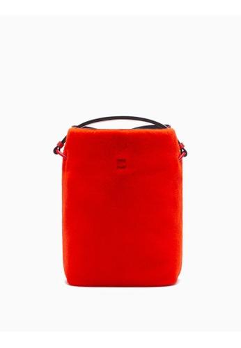Calvin Klein red Furry Bucket Bag 9C582AC5259647GS_1