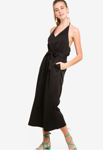 e13a8ee2e747 Buy Something Borrowed Halter Neck Jumpsuit Online on ZALORA Singapore