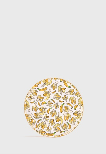 Tocco Toscano white and yellow Coaster by Asher Won (Bananas) 749B4HLFEF11D9GS_1