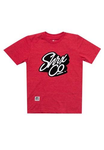 SHARKS red Two-Toned Typo Tshirt 76D28KA8EA5922GS_1